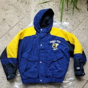 Vtg Rare & New Mirage Stitched Georgia Tech Hooded